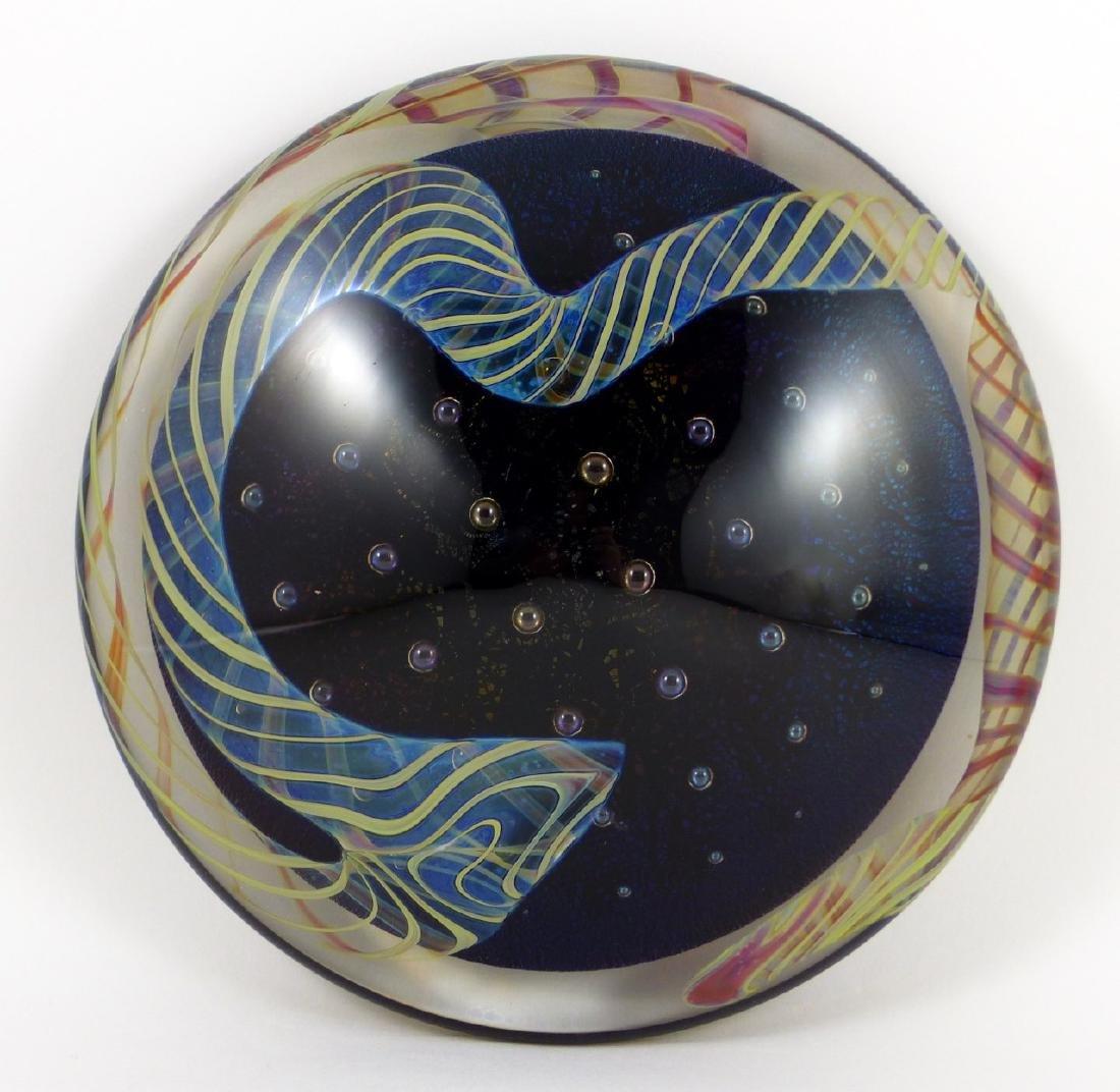 STUDIO ART GLASS DICHROIC PAPERWEIGHT