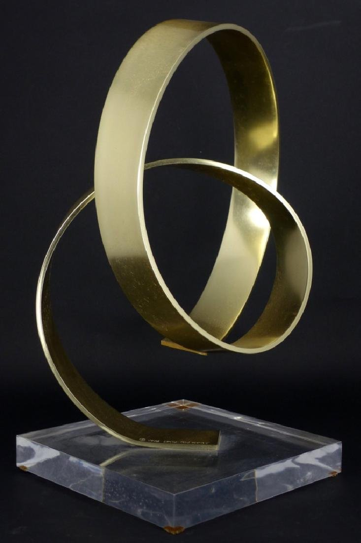 DAN MURPHY ABSTRACT BRASS SCULPTURE