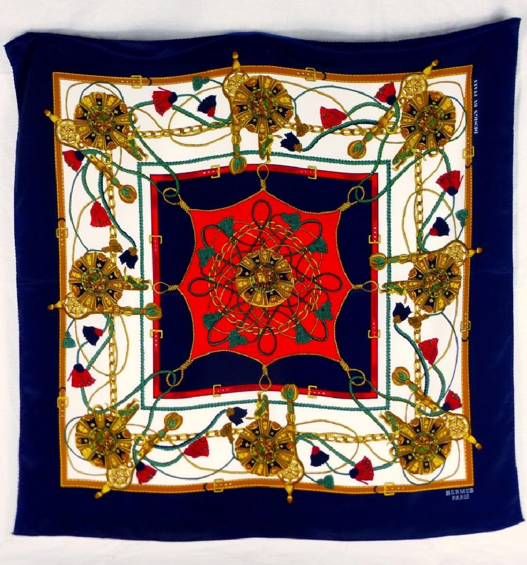 HERMES PARIS SILK SCARF
