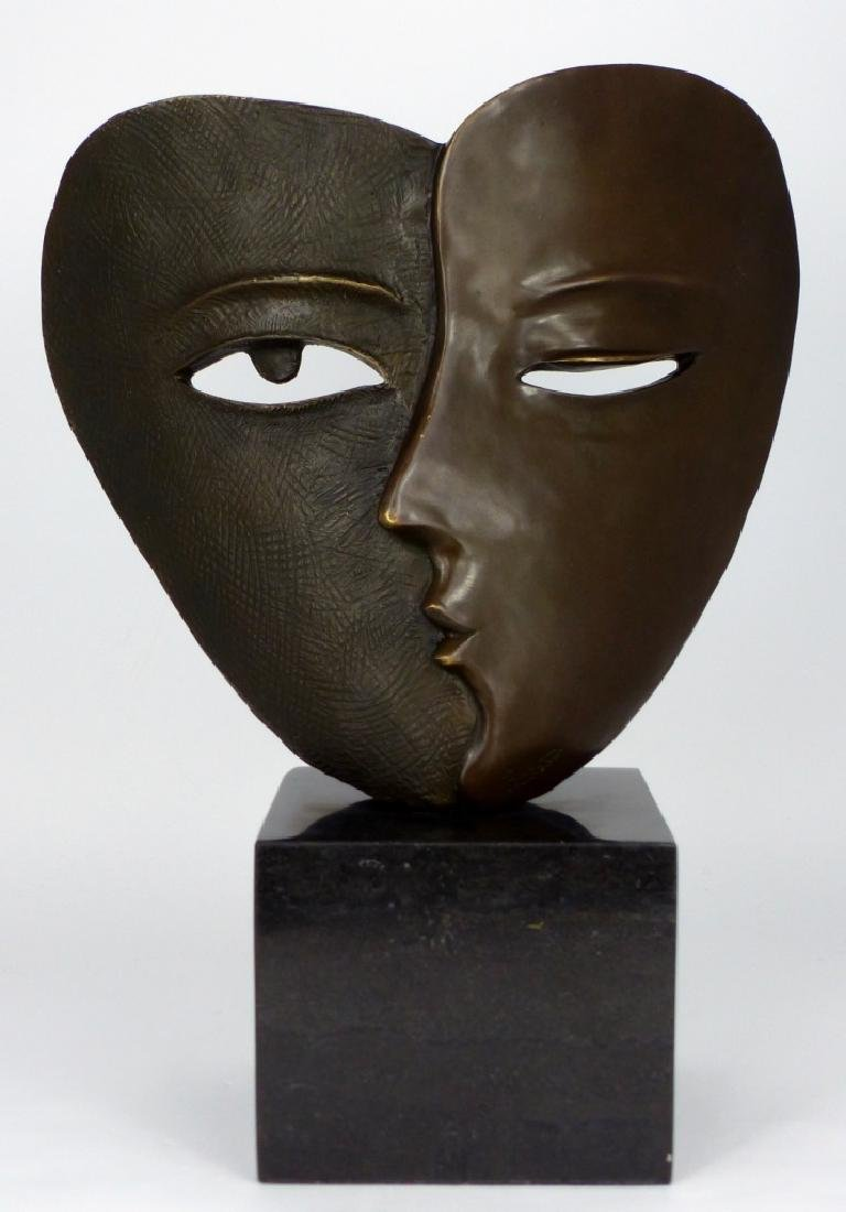 PICASSO BRONZE MASK SCULPTURE