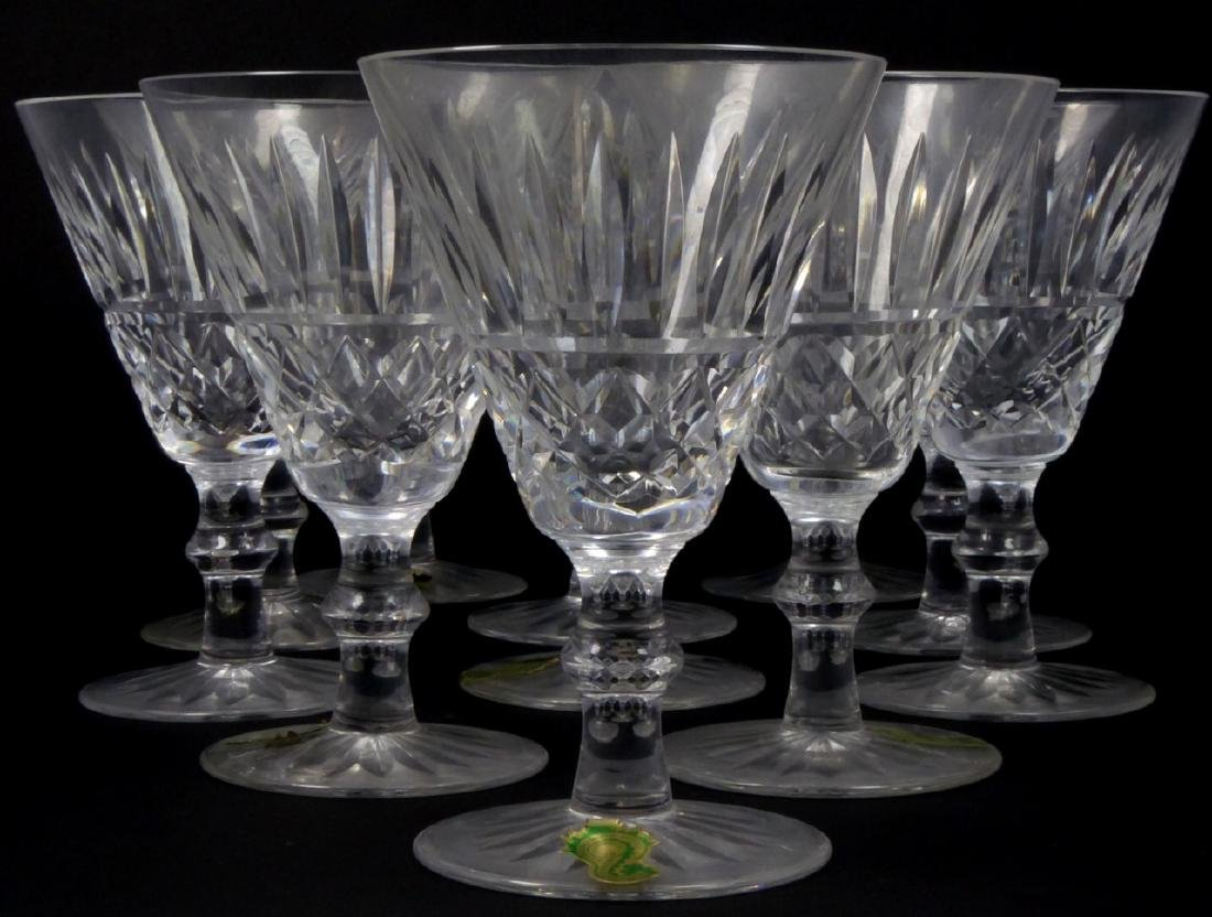 11pc WATERFORD TRAMORE CUT CRYSTAL WINE CLARETS
