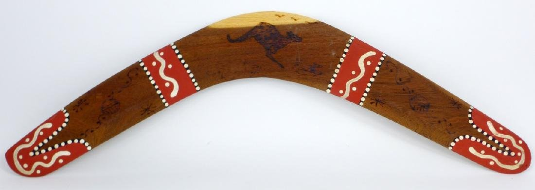 AUSTRALIAN PAINTED BOOMERANG SIGNED