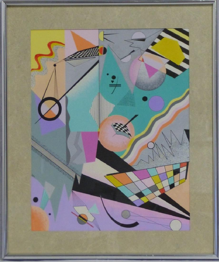 ABSTRACT GOUACHE ON PAPER AFTER WASSILY KANDINSKY
