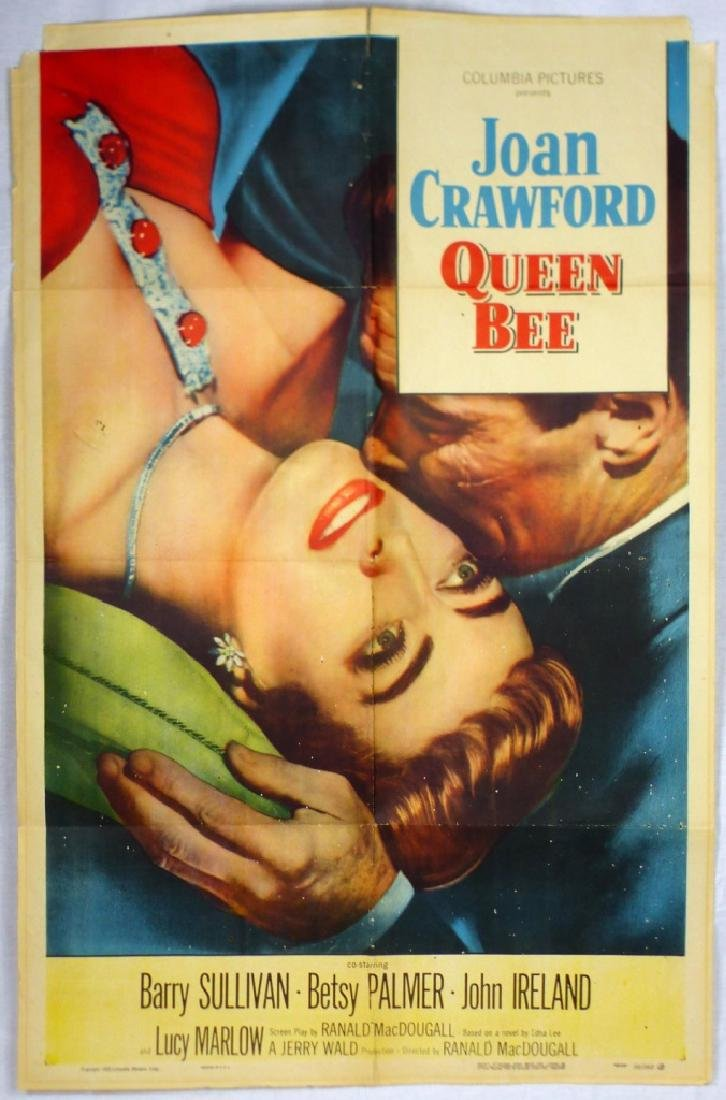 JOAN CRAWFORD 'QUEEN BEE' VINTAGE MOVIE POSTER