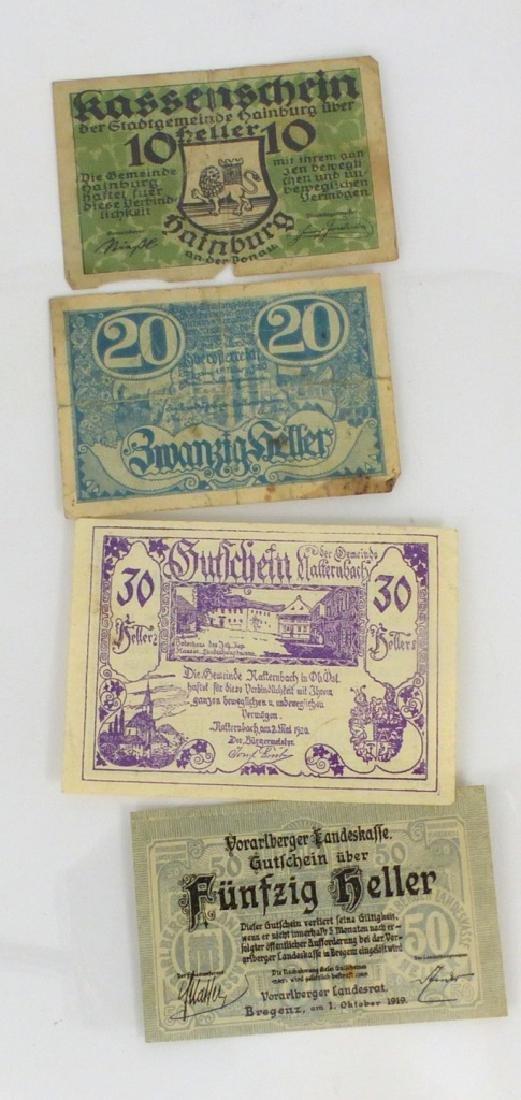 4pc AUSTRIAN HELLERS 1919-1920