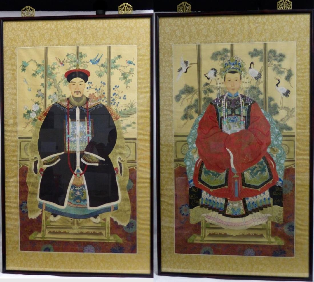 PR CHINESE ANCESTRAL PORTRAIT SCROLL PAINTINGS