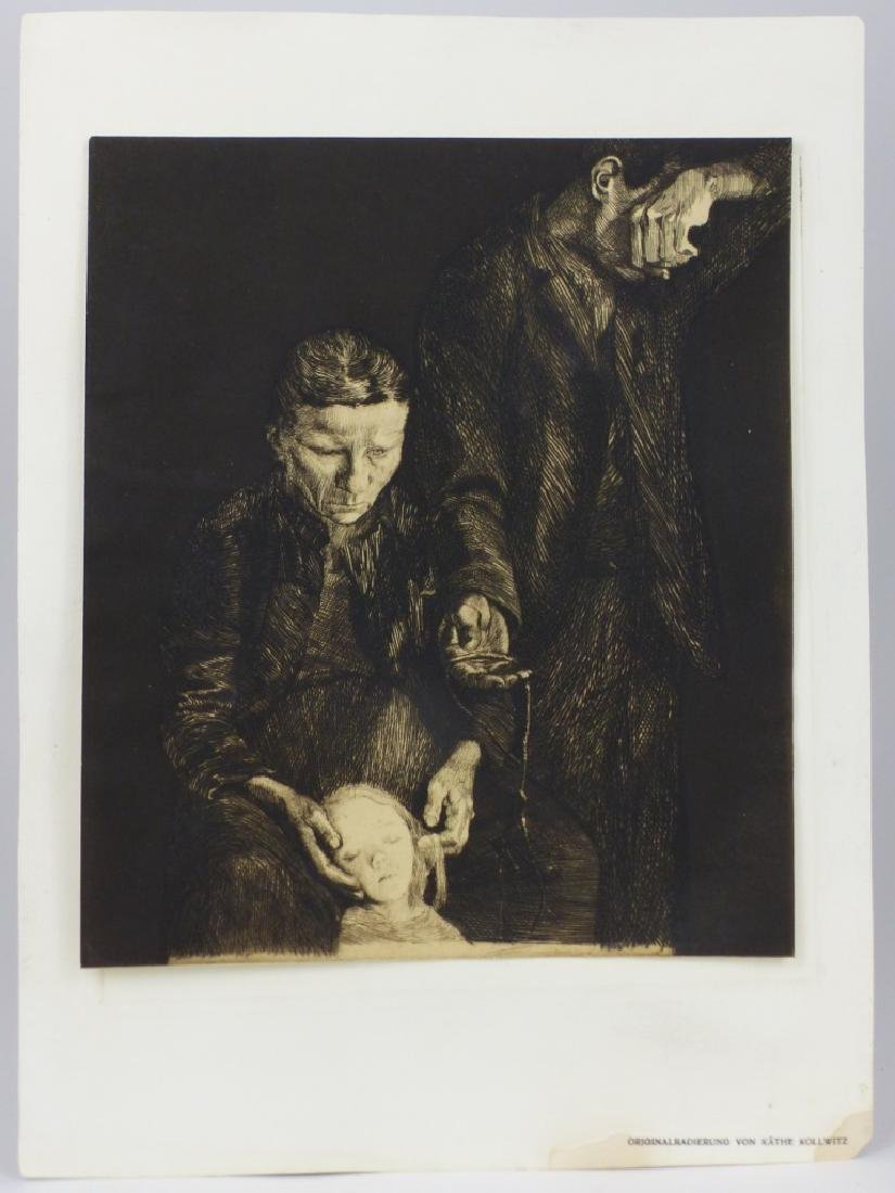 KATHE KOLLWITZ 'THE DOWNTRODDEN' ETCHING