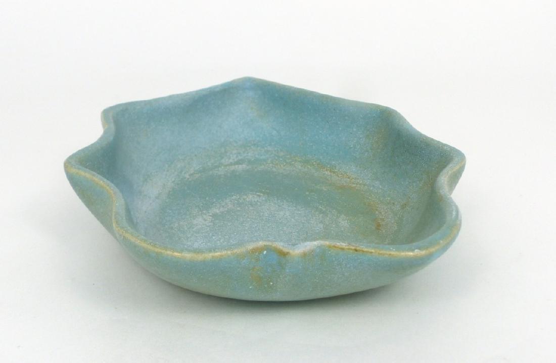 CHINESE BLUE-GLAZED PORCELAIN BRUSH WASHER