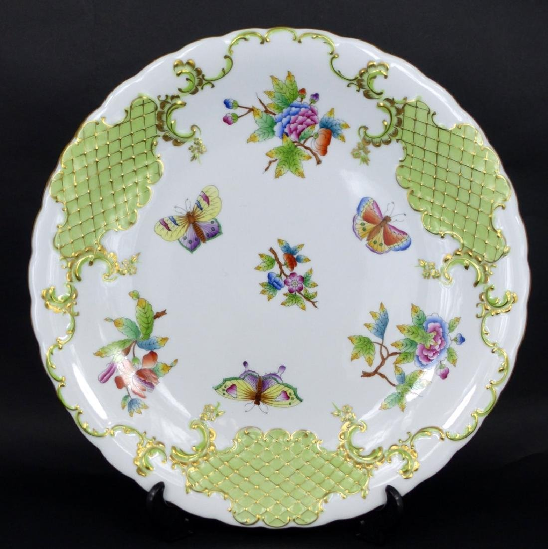 HEREND QUEEN VICTORIA LARGE PORCELAIN PLATE
