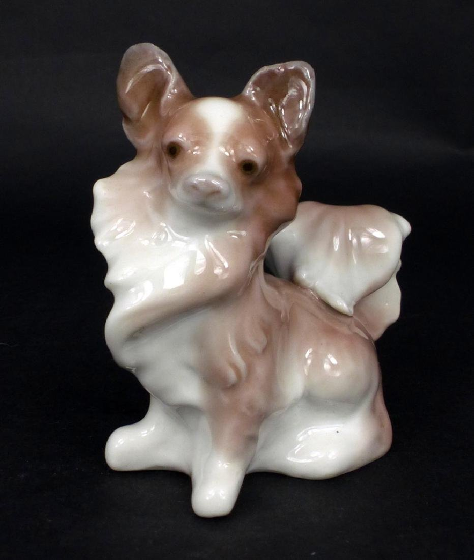 LLADRO PAPILLON SMALL DOG PORCELAIN FIGURINE