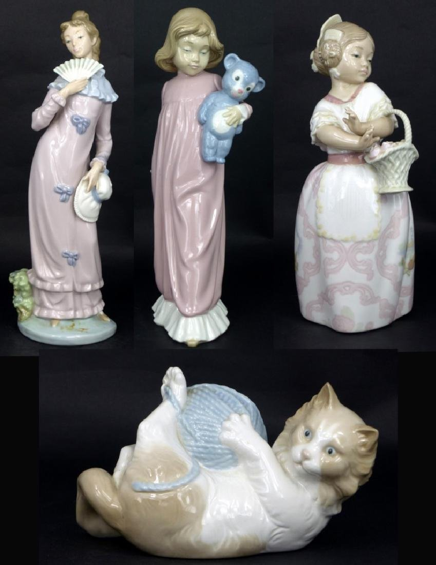 4pc NAO BY LLADRO PORCELAIN FIGURINE