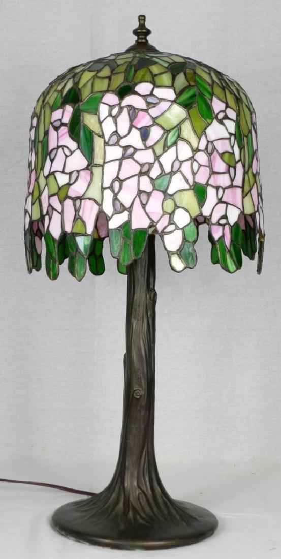TIFFANY STYLE WISTERIA TREE TABLE LAMP