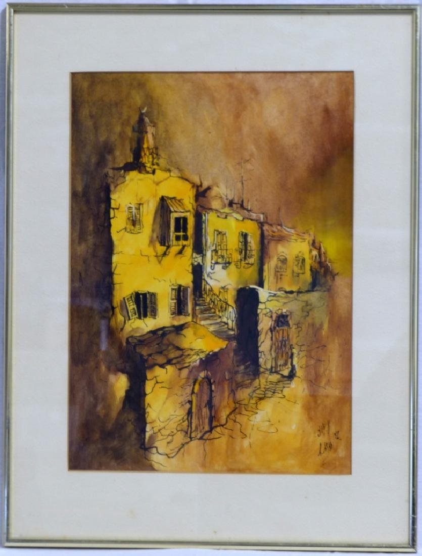 ARI ARAD ISRAELI WATERCOLOR ON PAPER