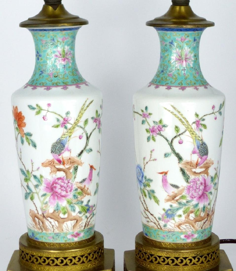 PR CHINESE ENAMELED PORCELAIN VASES / LAMPS