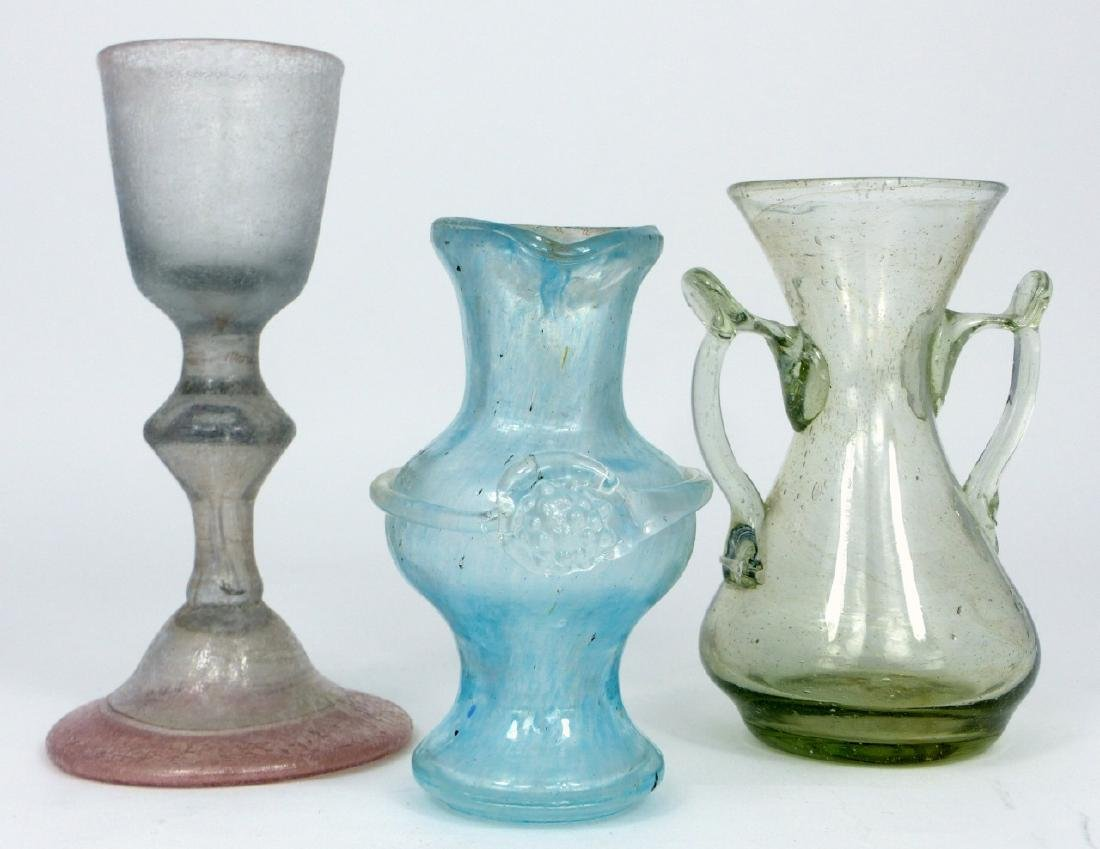 3pc VENETIAN GLASS ITEMS