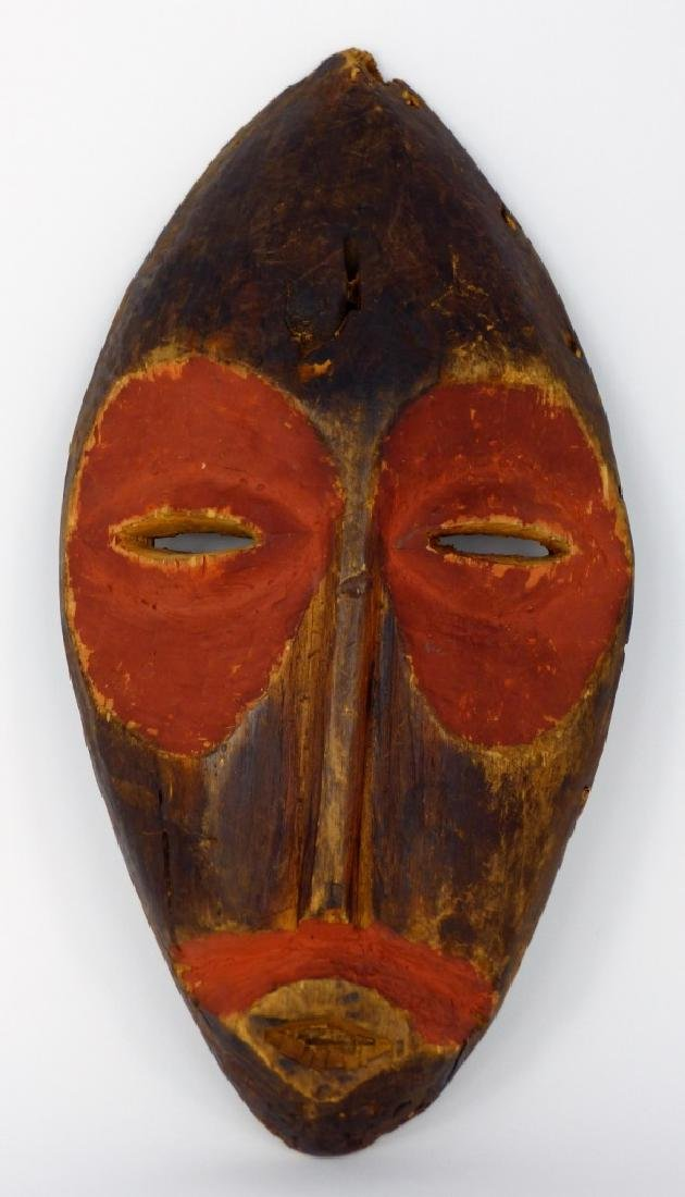 CARVED & PAINTED WOODEN TRIBAL MASK