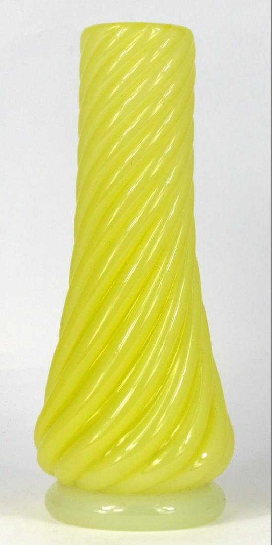 MURANO ART GLASS VASE w RIBBED SPIRAL DESIGN