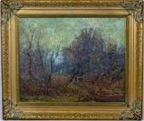 HARRY W NEWMAN OIL PAINTING ON CANVAS LANDSCAPE
