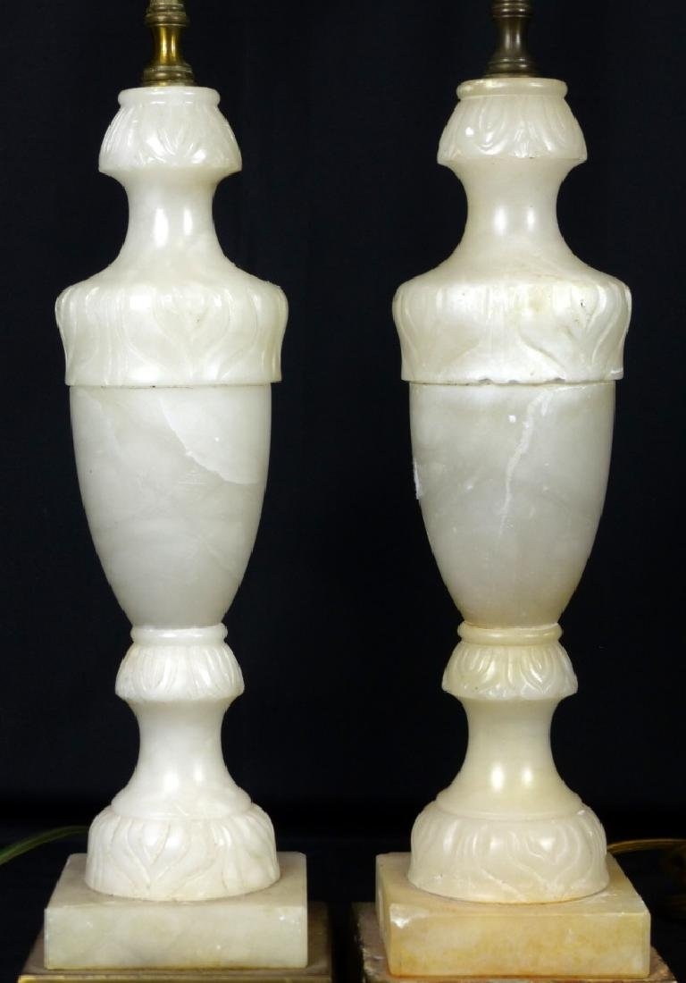 PR ALABASTER URN SHAPED LAMPS