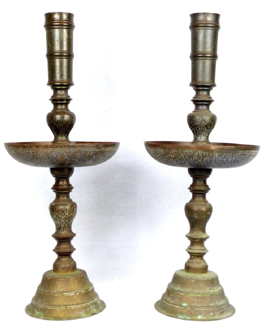 PR ISLAMIC BRONZE ALTER STICKS