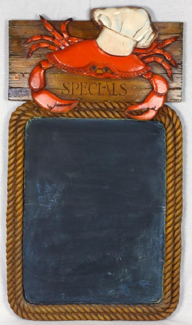 NAUTICAL CRAB CHALKBOARD MENU
