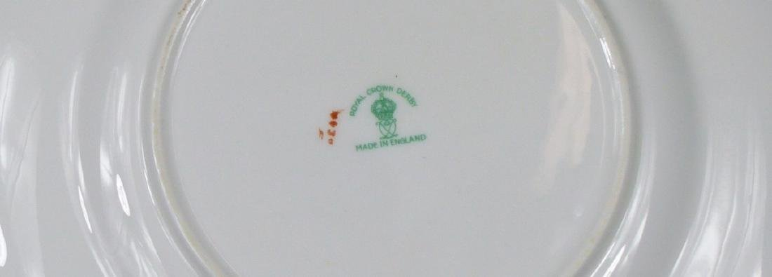 9pc ROYAL CROWN DERBY PORCELAIN PLATES - 5