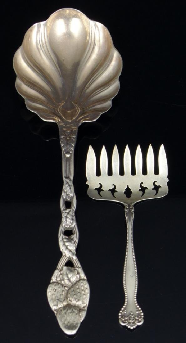 2pc STERLING SILVER SERVING PIECES