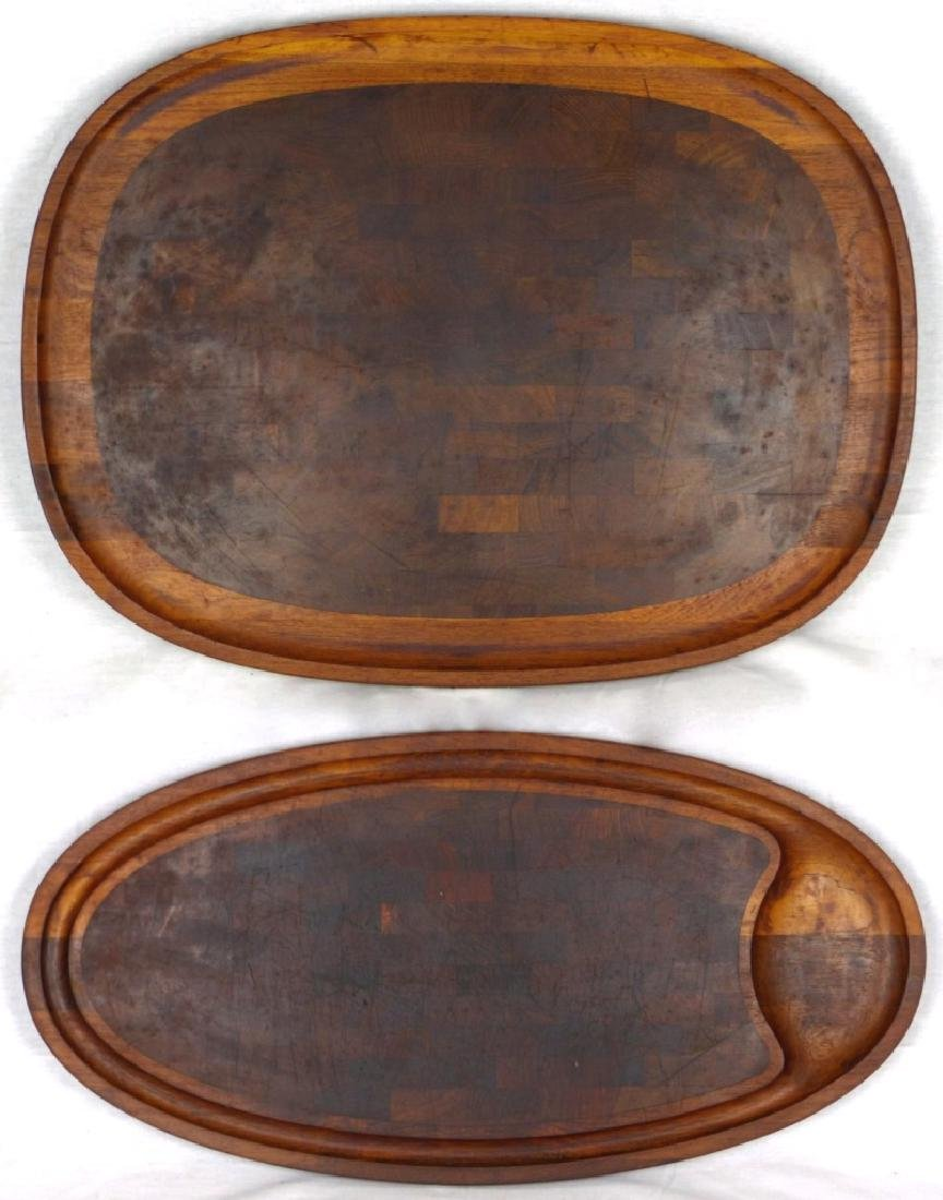 2pc JENS QUISTGAARD DANSK DANISH LARGE TEAK TRAYS