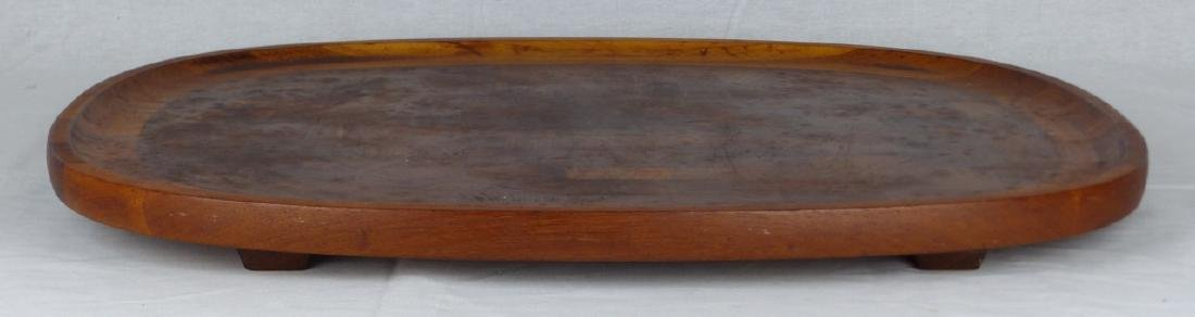 2pc JENS QUISTGAARD DANSK DANISH LARGE TEAK TRAYS - 3