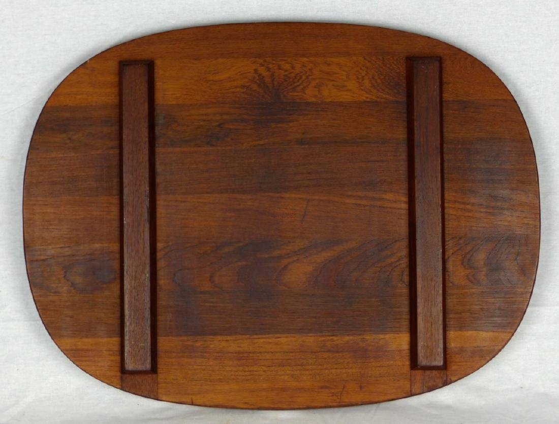 2pc JENS QUISTGAARD DANSK DANISH LARGE TEAK TRAYS - 4