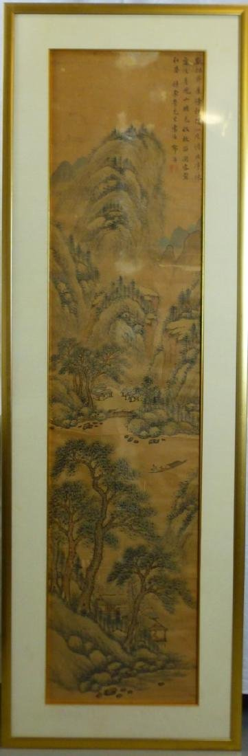 CHINESE SCROLL PAINTING MOUNTAINOUS LANDSCAPE