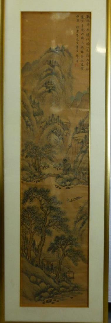 CHINESE SCROLL PAINTING MOUNTAINOUS LANDSCAPE - 2