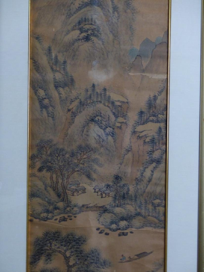 CHINESE SCROLL PAINTING MOUNTAINOUS LANDSCAPE - 6