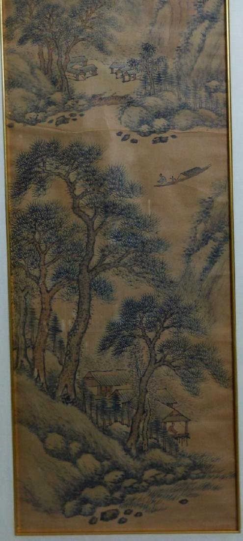 CHINESE SCROLL PAINTING MOUNTAINOUS LANDSCAPE - 7