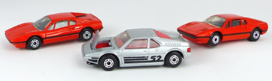 3pc MATCHBOX TOY CARS w BOXES FERRARI & BMW