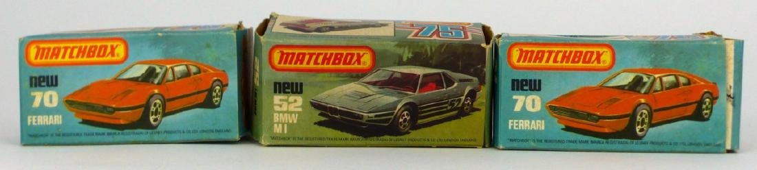 3pc MATCHBOX TOY CARS w BOXES FERRARI & BMW - 2