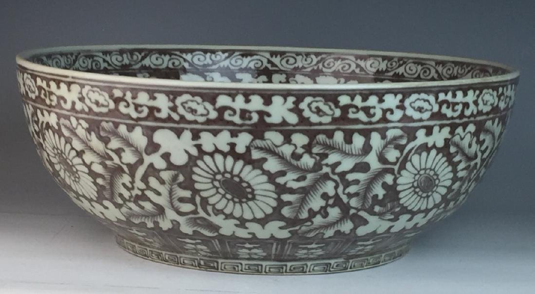 19th C CHINESE COPPER RED PORCELAIN BOWL