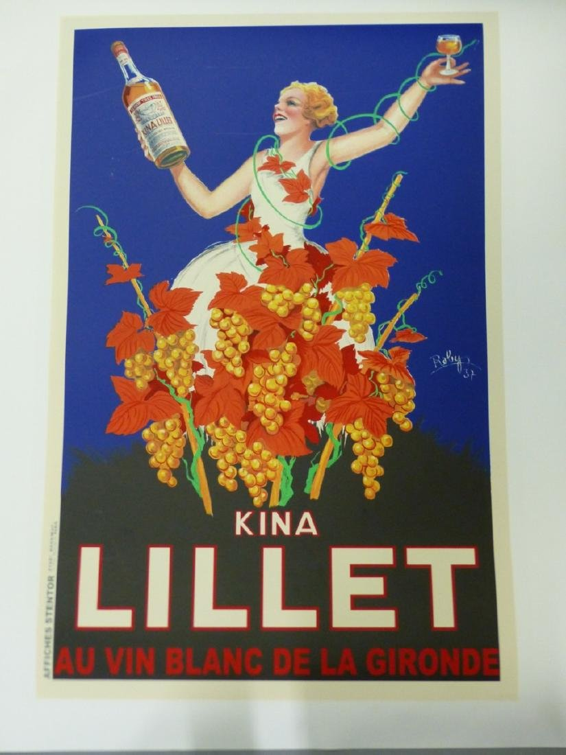 ROBERT WOLFF 'KINA LILLET' ADVERTISING POSTER