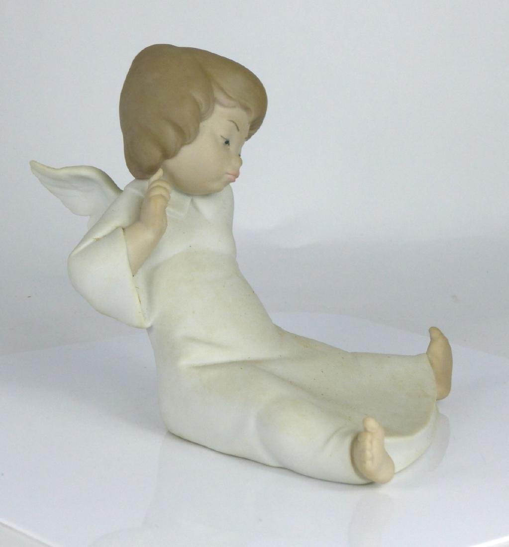 LLADRO 'ANGEL WONDERING' PORCELAIN FIGURINE w BOX - 2