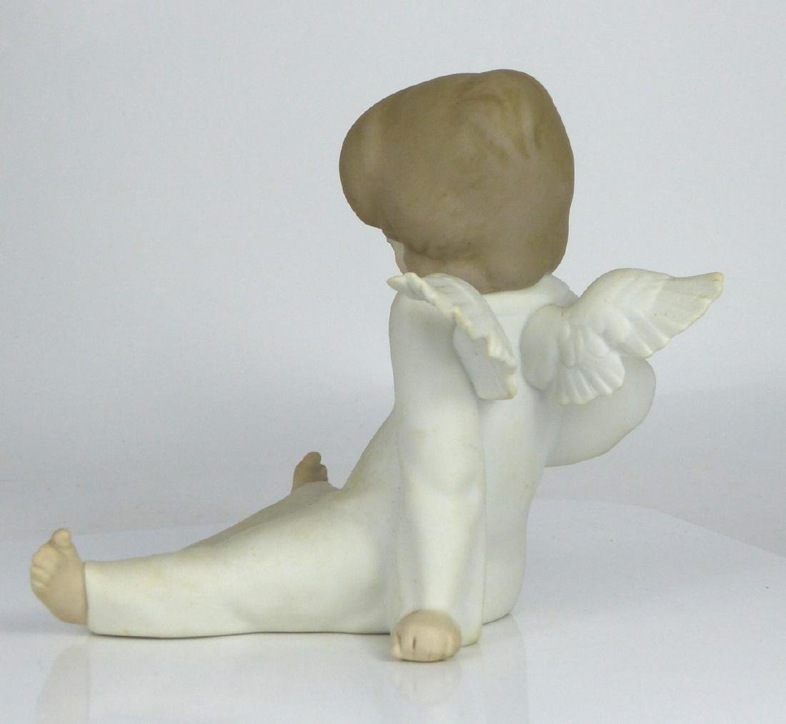 LLADRO 'ANGEL WONDERING' PORCELAIN FIGURINE w BOX - 4