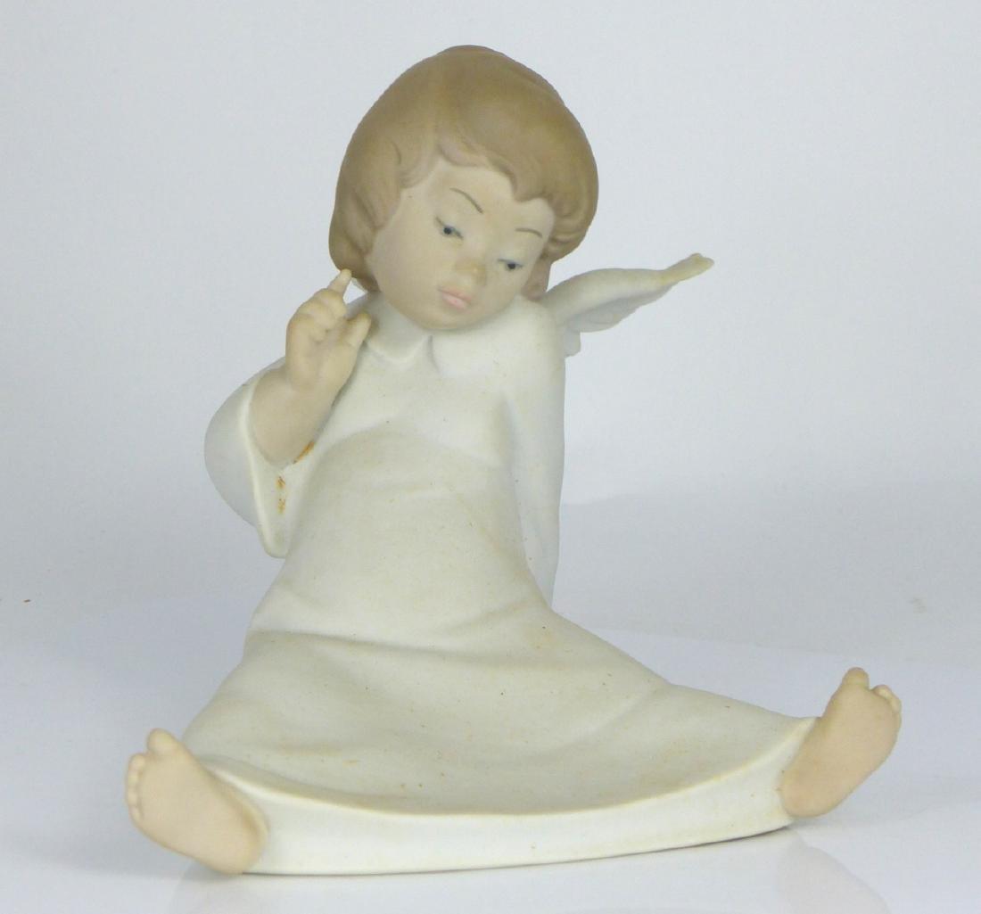 LLADRO 'ANGEL WONDERING' PORCELAIN FIGURINE w BOX - 6