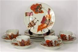 12pc JAPANESE PORCELAIN TEA SET