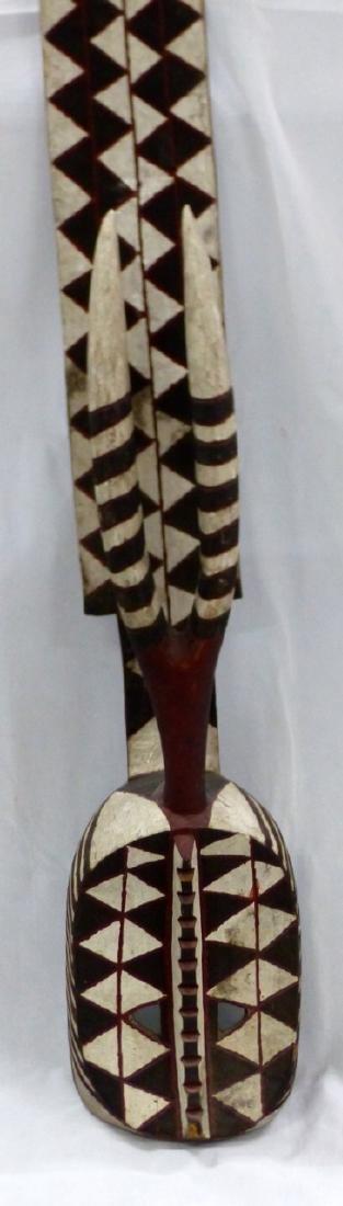 LARGE TRIBAL CARVED WOOD ANTELOPE MASK - 2