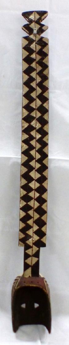 LARGE TRIBAL CARVED WOOD ANTELOPE MASK - 4