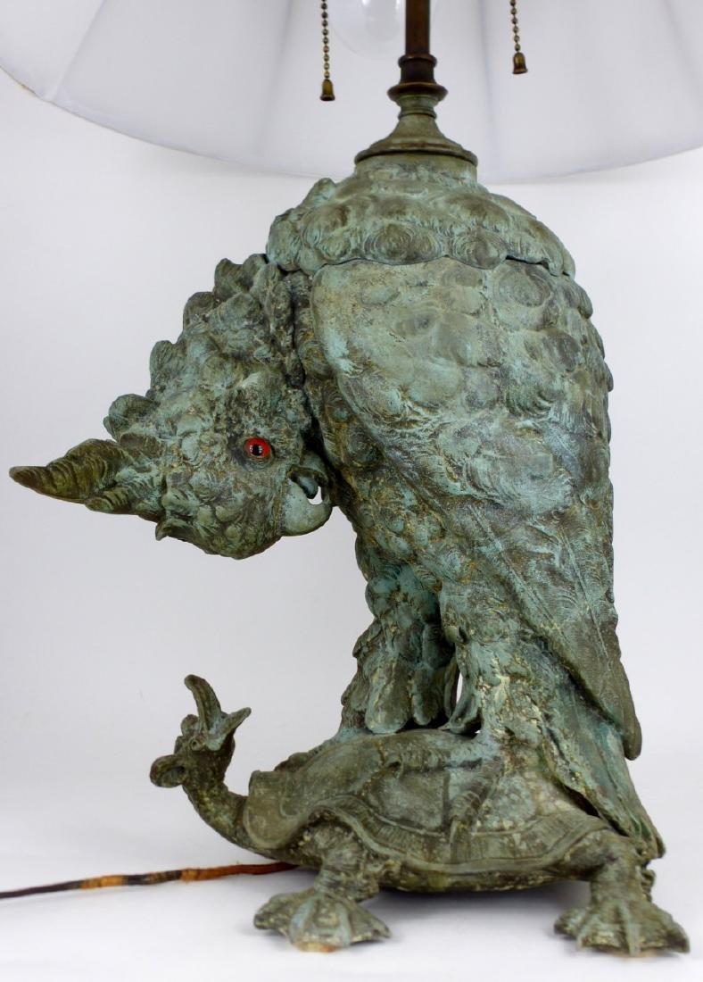 CRAIGHEAD & KINTZ COCKATOO & TURTLE LAMP