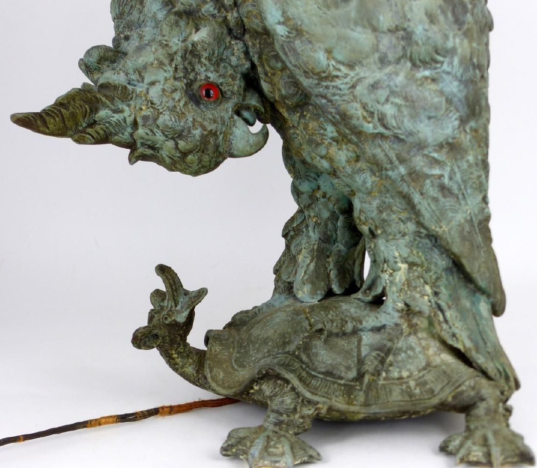 CRAIGHEAD & KINTZ COCKATOO & TURTLE LAMP - 4
