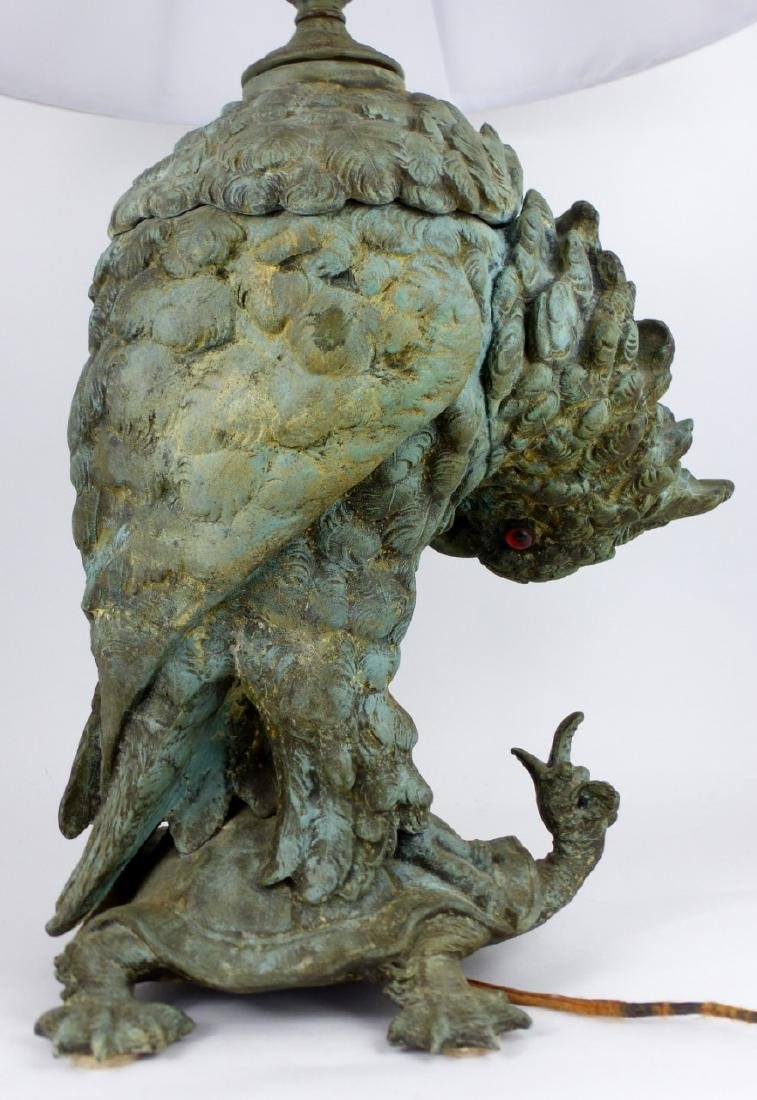 CRAIGHEAD & KINTZ COCKATOO & TURTLE LAMP - 6