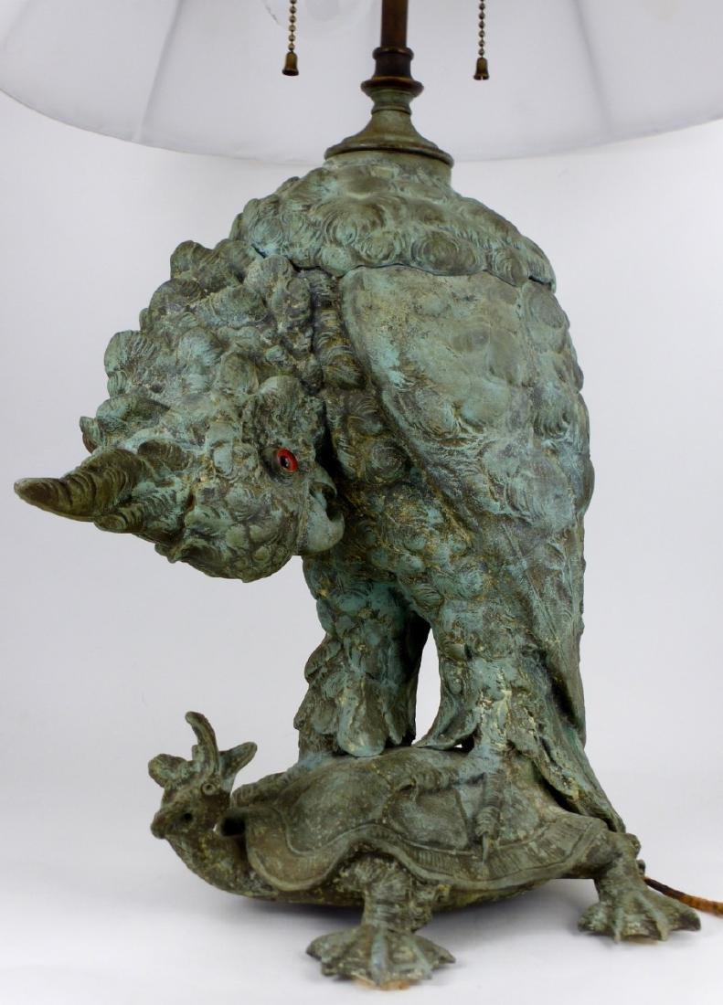 CRAIGHEAD & KINTZ COCKATOO & TURTLE LAMP - 8