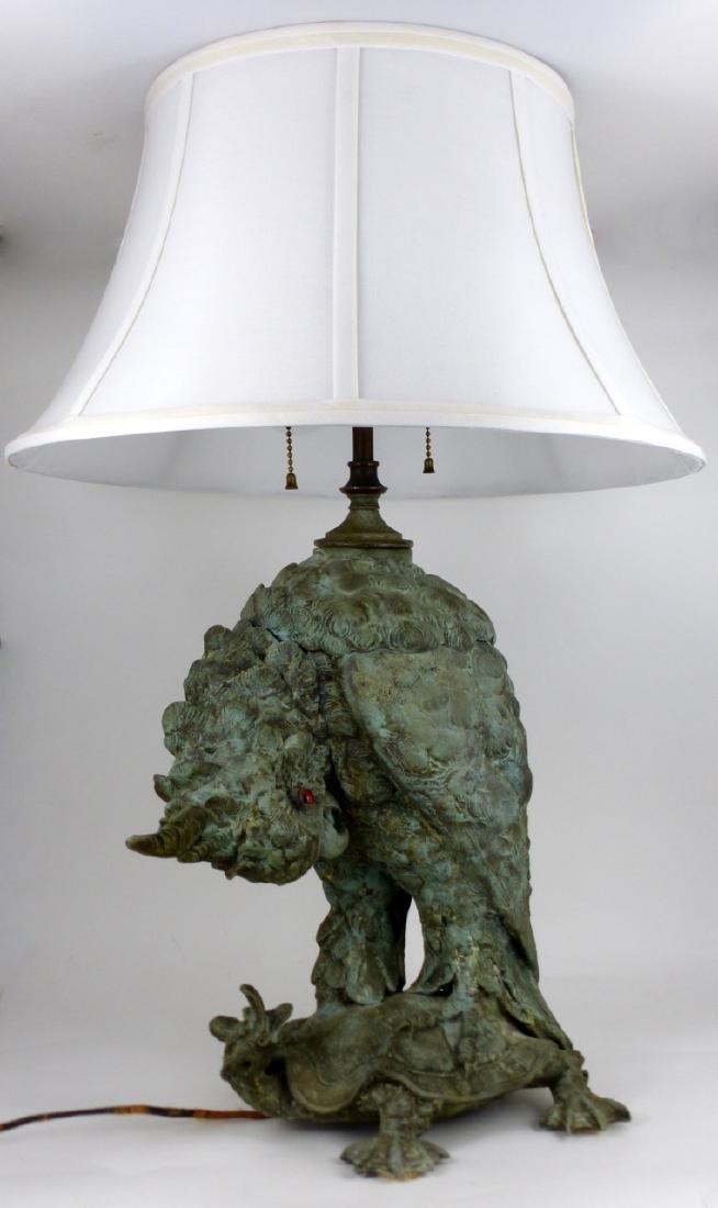 CRAIGHEAD & KINTZ COCKATOO & TURTLE LAMP - 9