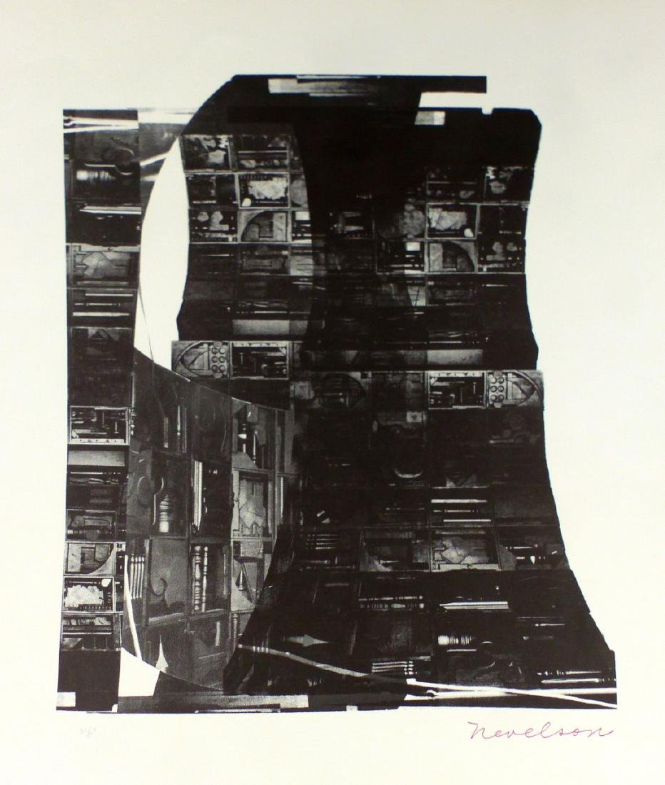 LOUISE NEVELSON 'NIGHT REFLECTIONS' SERIGRAPH - 2